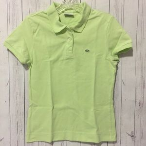 EUC Lacoste Women's Pool Green Top sz 42